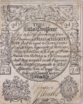 Exceedingly Rare 1744 Massachusetts Tall Bill
