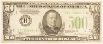 Lot # : 446 - 1934 $500 Federal Reserve Note.