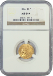 1926 $2.50 Indian Gold NGC Certified MS-64+